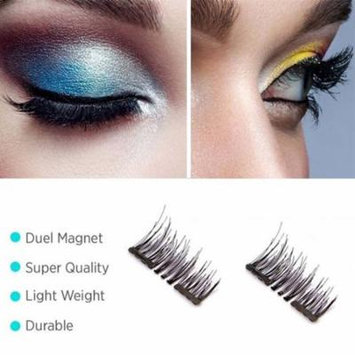 Oak Leaf Dual Magnetic Eyelashes Makeup -4Pcs Ultra Thin 3D Reusable Fiber Natural Fake Lashes Extension, No Glue Needed