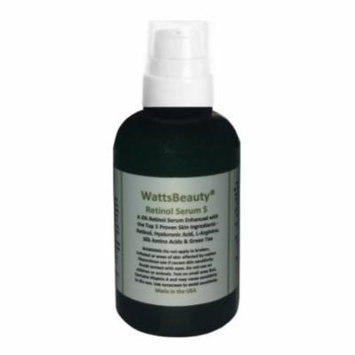 watts beauty 2% retinol serum - hyaluronic acid gel blend - no parabens - made in the usa - perfect for dull skin, aging skin, wrinkles, large pores, oily skin, acne prone skin & much more - 98% natur