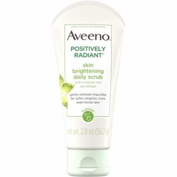4 Pack - AVEENO Positively Radiant Skin Brightening Exfoliating Daily Facial Scrub with Moisture-Rich Soy Extract, Jojob