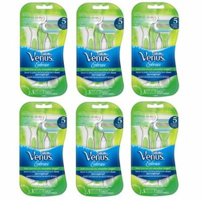 Gillette Venus Embrace Disposable Razors 3 ct (Pack of 6) + Yes to Coconuts Moisturizing Single Use Mask