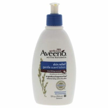 4 Pack Aveeno Skin Relief Gentle Scent Lotion, Nourishing Coconut, 12 oz each