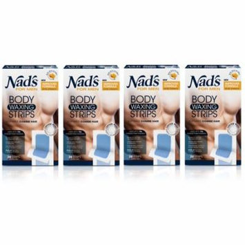 Nad's For Men Body Waxing Strips, 20 Count (Pack of 4) + Yes to Tomatoes Moisturizing Single Use Mask