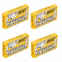 BIC Chrome Platinum Double Edge Safety Razor Blades, 20 Count + Yes to Coconuts Moisturizing Single Use Mask