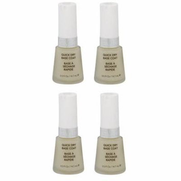 Revlon Quick Dry Base Coat, 0.5 Ounce (4 Pack) + Yes to Tomatoes Moisturizing Single Use Mask
