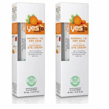 Yes To Carrots Normal To Dry Skin, Moisturizing Eye Cream, 0.5 Oz (Pack of 2) + Yes to Coconuts Moisturizing Single Use Mask