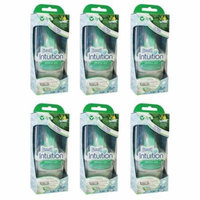 Wilkinson by Schick Intuition Sensitive Care Razor with 1 Refill Cartridge and Shower Hanger (6 Pack) + Yes to Coconuts Moisturizing Single Use Mask