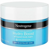2 Pack - Neutrogena Hydro Boost Hydrating Whipped Body Balm with Hyaluronic Acid, Non-Greasy and Fast-Absorbing Balm for