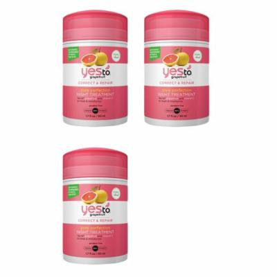 Yes To Grapefruit correct and repair pore perfection night treatment 1.7 oz (3 Pack) + Yes to Tomatoes Moisturizing Single Use Mask