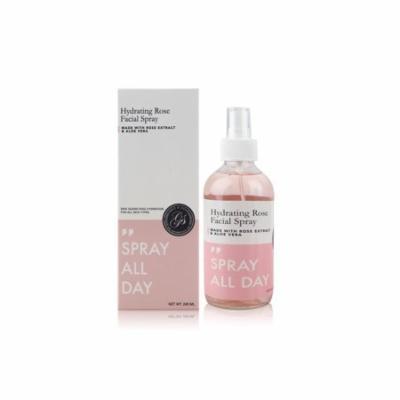 Rose Water Facial Mist Spray (240ml/8 fl.oz) - Hydrating & Moisturizing Toner - Setting Spray to Freshen Skin & Makeup - Glass Bottle - Vegan & Cruelty-Free   No Parabens, Sulfates, Silicones