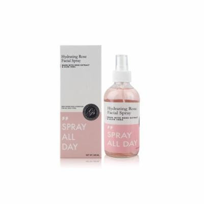 Rose Water Facial Mist Spray (240ml/8 fl.oz) - Hydrating & Moisturizing Toner - Setting Spray to Freshen Skin & Makeup - Glass Bottle - Vegan & Cruelty-Free | No Parabens, Sulfates, Silicones
