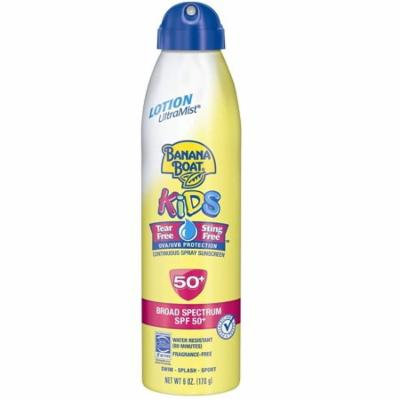 Banana Boat Kids Continuous Spray Sunscreen, SPF 50+, Fragrance Free, Water Resistant, 6 Oz + Yes to Tomatoes Moisturizing Single Use Mask