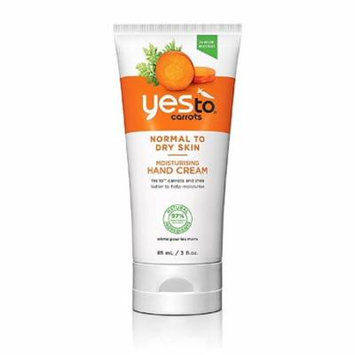 Yes To Carrots Normal To Dry Skin, Moisturizing Hand Cream, 3 Oz + Yes to Tomatoes Moisturizing Single Use Mask