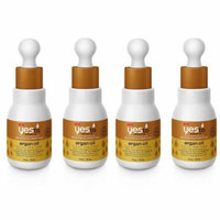 Yes To Miracle Oil Brighten and Condition Argan Oil for All Skin Types, 1 Oz (Pack of 4) + Yes to Coconuts Moisturizing Single Use Mask