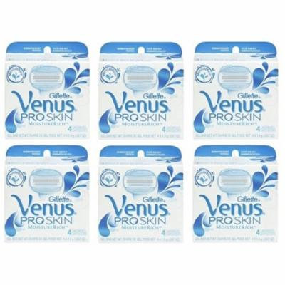 Gillette Venus Pro Skin Refill Razor Blade Cartridges, 24 Count (6 Packs of 4) + Yes to Coconuts Moisturizing Single Use Mask