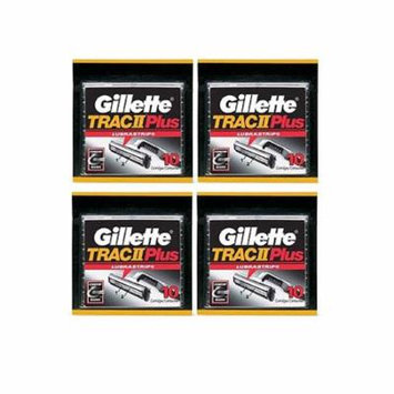 Gillette Trac II Plus Refill Razor Blades 10 ct. (Pack of 4) + Yes to Tomatoes Moisturizing Single Use Mask