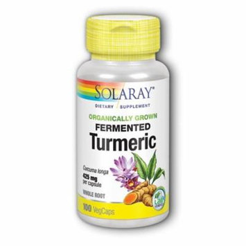 Organically Grown Fermented Turmeric Root Solaray 100 VCaps