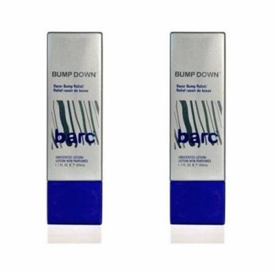 Barc Bump Down Razor Bump Relief, Alcohol-Free, Unscented Lotion, 1.7 Oz (Pack of 2) + Yes to Coconuts Moisturizing Single Use Mask