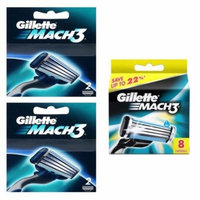 Gillette Mach3 Refill Razor Blade Cartridges, 14 Count (2ctX2+8ct) + Yes to Tomatoes Moisturizing Single Use Mask