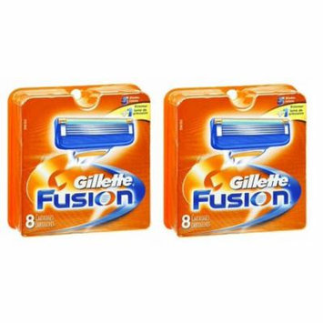 Gillette Fusion Refill Razor Blade Cartidges, 8 Ct. (Pack of 2) + Yes to Tomatoes Moisturizing Single Use Mask