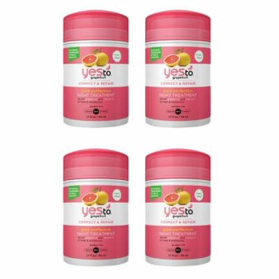 Yes To Grapefruit correct and repair pore perfection night treatment 1.7 oz (4 Pack) + Yes to Coconuts Moisturizing Single Use Mask
