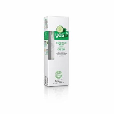 Yes To Cucumbers Sensitive Skin Soothing Eye Gel, 0.5 Oz + Yes to Coconuts Moisturizing Single Use Mask