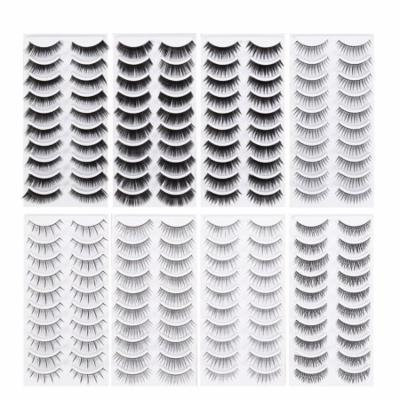Natural Fake Eyelashes 8-Style Thick Long Eye Lashes for Women Lady Teenager Girls 80 Pairs