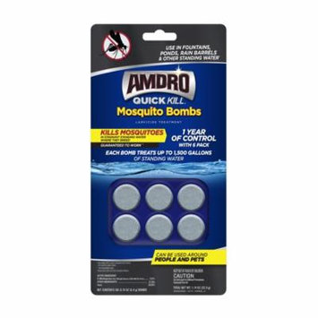 Amdro Quick Kill Mosquito Bombs Larvacide Treatment, 6 pack