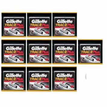 Gillette Trac II Plus Refill Razor Blades 10 ct. (Pack of 10) + Yes to Coconuts Moisturizing Single Use Mask