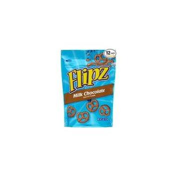 24 PACKS : Flipz Pretzels, Milk Chocolate, 5-Ounce Packages