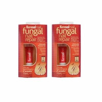 Kerasal Nail Fungal Nail Repair, 3 Month Supply 10ml (0.33 Oz) (Pack of 2) + Yes to Tomatoes Moisturizing Single Use Mask