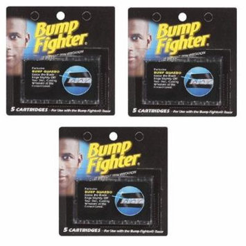 Bump Fighter Refill Cartridge Blades 5 Ct Each (3 Packs) + Yes to Tomatoes Moisturizing Single Use Mask