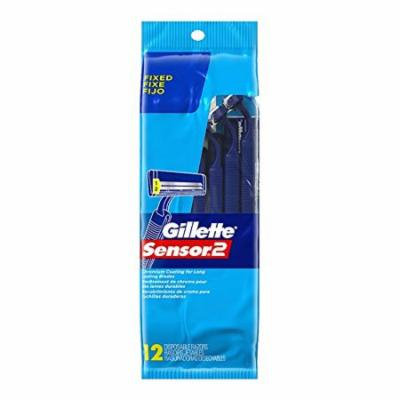 5 Pack Gillette Sensor2 Chromium Coated Disposable Razors, 12ct Each