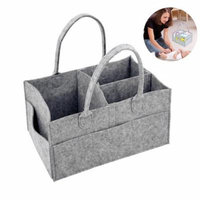 Genenic Travel Baby Diaper Bag Nursery Storage Bin Folding Car Organizer for Diapers,Baby Toys,Wipes with Separable Lattice