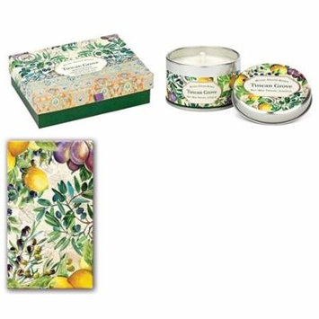 Triple Milled Shea Butter Double Soap Boxed Gift Set, Travel Candle and Matchbox - Tuscan Grove