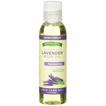 2 Pack Nature's Truth Rejuvenating Lavender Massage Body Oil 4 oz