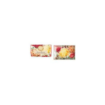 Oversized Triple Milled Shea Butter Bath Soap Bar and Soap Dish - Morning Blossoms