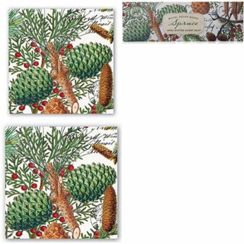 Michel Design Works Triple Milled Guest Soap Box Set, Coktail and Luncheon Napkins - Spruce