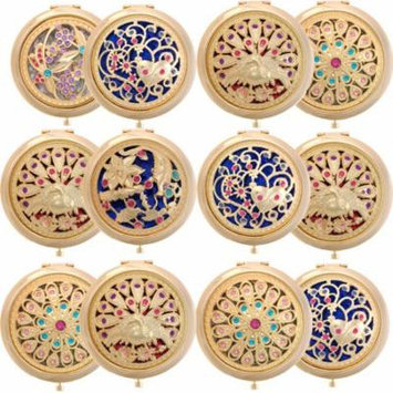 ALICE 12 Sets Gleamy Boutique Compact Mirror, Folding Mirrors With Gift Box