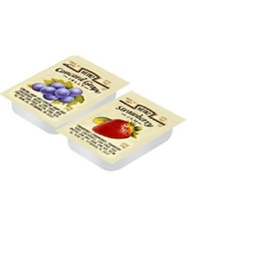 Heinz Grape & Strawberry Single serve Jellies (0.5oz Packets, Pack of 200)