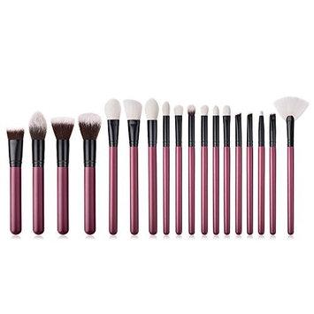 Baomabao 18PCS Wooden Foundation Cosmetic Eyebrow Eyeshadow Brush Makeup Brush Sets Tools