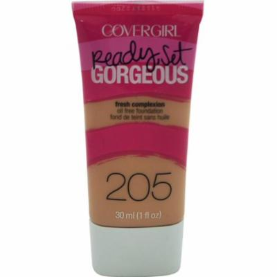 2 Pack - CoverGirl Ready Set Gorgeous Foundation, [205] Natural Beige 1 oz