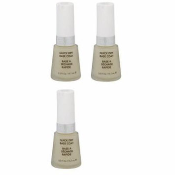 Revlon Quick Dry Base Coat, 0.5 Ounce (3 Pack) + Yes to Tomatoes Moisturizing Single Use Mask