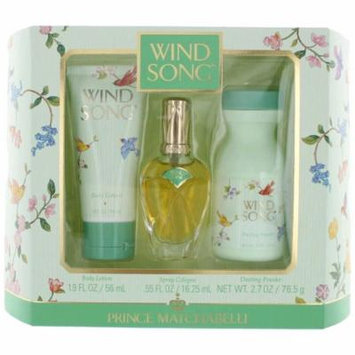 Wind Song Perfume by Prince Matchabelli, 3 Piece Gift Set for Women