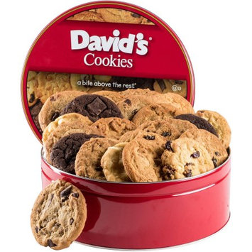 Davids Cookies David's Cookies Fresh Baked Cookies Gift Tin, 24 count, 2 lbs