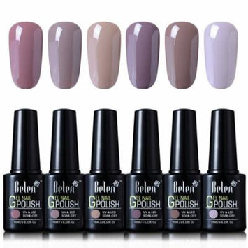 Belen 6 Colors Soak Off Gel Nail Polish UV LED Manicure 10ml Nude Colour Set