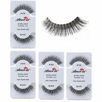 LWS LA Wholesale Store 6 Pairs AmorUs 100% Human Hair False Long Eyelashes # 218 compare Red Cherry