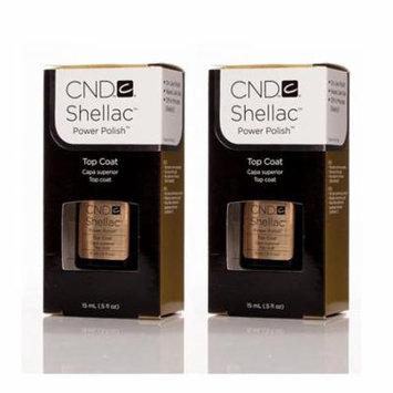 CND Gel Polish Shellac Top Coat 0.5 oz (Pack Of 2)