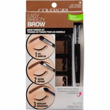 COVERGIRL Easy Breezy Brow Powder Kit, Soft Brown (Pack of 10)