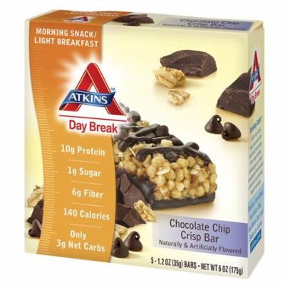 Atkins Day Break Snack Bars Chocolate Chip1.3 oz. x 5 pack(pack of 2)