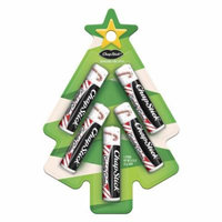 ChapStick Classic Skin Protectant Candy Cane Flavored Lip Balm Tube, 0.15 Ounce Each, Christmas tree Holiday Pack 5ct